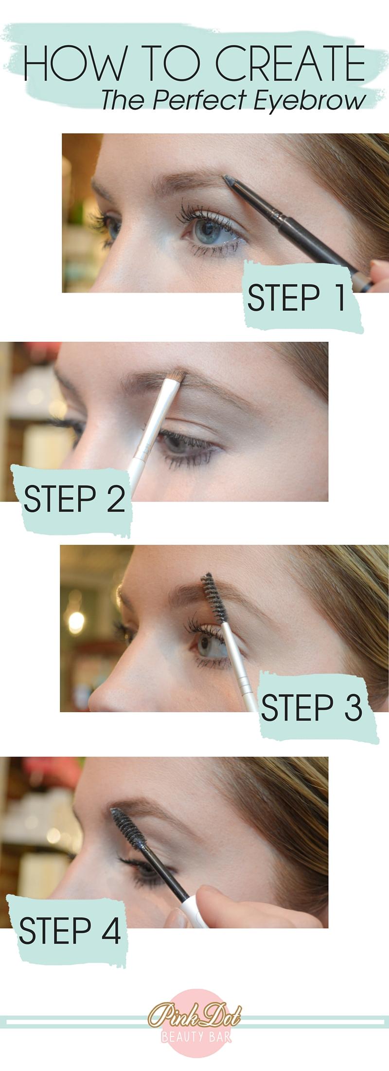How to create the perfect eyebrow - step by step via @pinkdotbeauty
