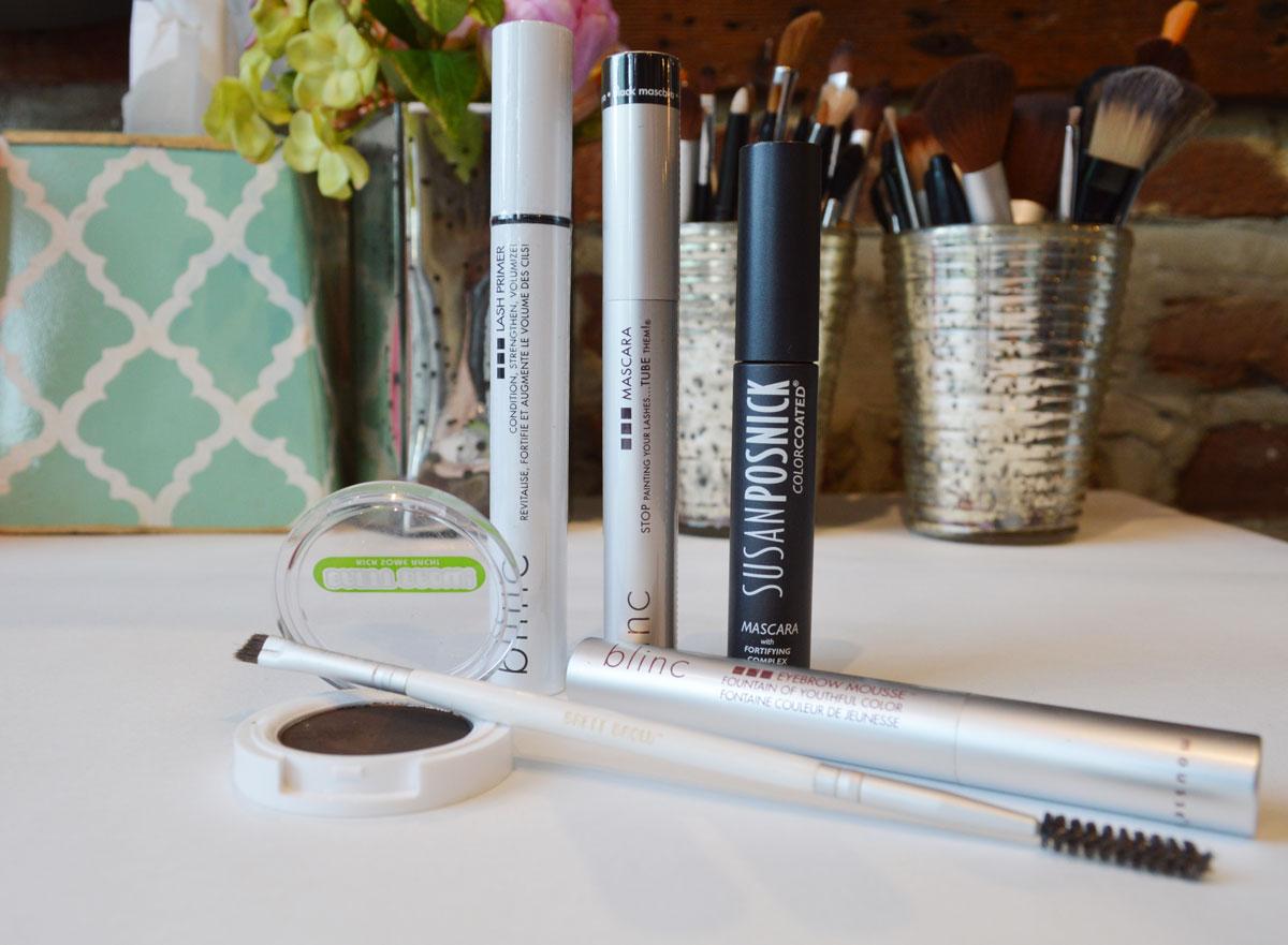 brows, brow powder, brow mousse, lashes, mascara, lengthening mascara, volumizing mascara, waterproof makeup, waterproof mascara, brow gel, lash primer, pink dot beauty bar, beauty bar, charleston makeup artist