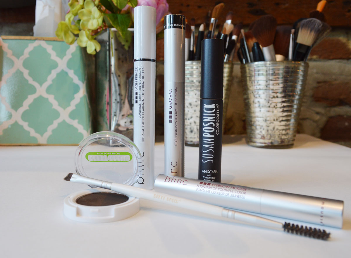 brows, brow powder, brow mousse, lashes, mascara, lengthening mascara, volumizing mascara, waterproof makeup, waterproof mascara, brow gel, lash primer, pink dot beauty bar, beauty bar, charleston makeup artist